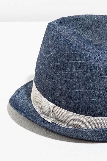 Cotton hat with wide brim