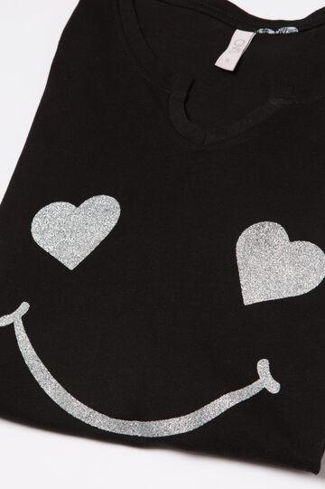 Printed pyjamas in 100% cotton, White/Black, hi-res