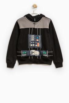 Star Wars maxi print cotton sweatshirt, Black, hi-res