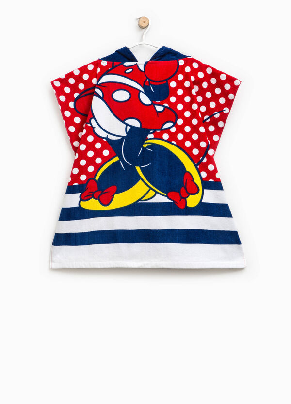 Minnie Mouse beach bathrobe with stripes and polka dots | OVS