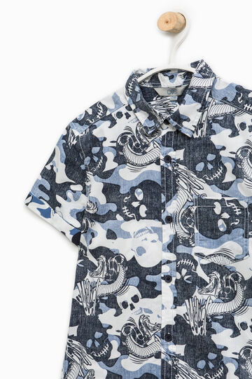 Short-sleeved shirt with all-over print