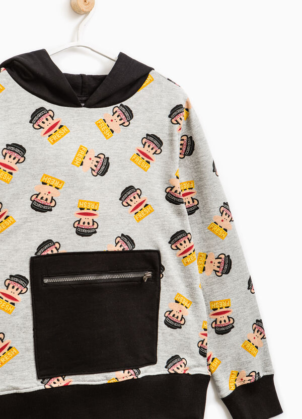 Cotton hoodie with Paul Frank pattern | OVS
