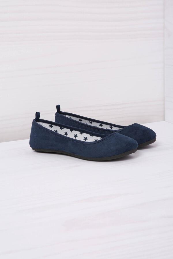 Round toe suede ballerina flats | OVS
