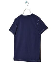 Jersey T-shirt with openwork, Cornflower Blue, hi-res