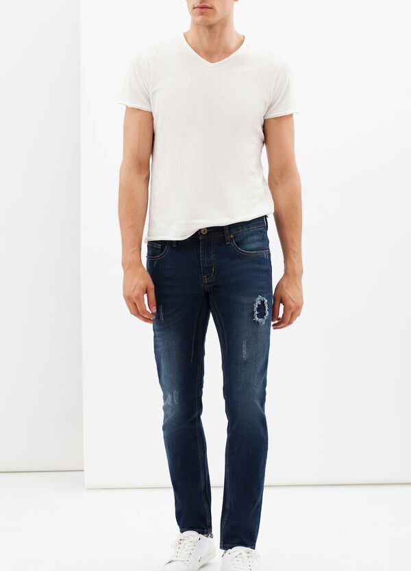 Skinny fit jeans with rips and abrasions | OVS