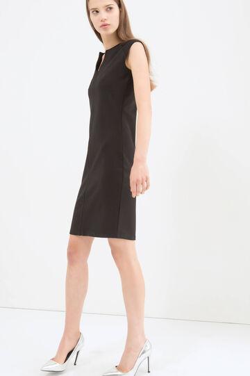 Stretch viscose dress, Black, hi-res