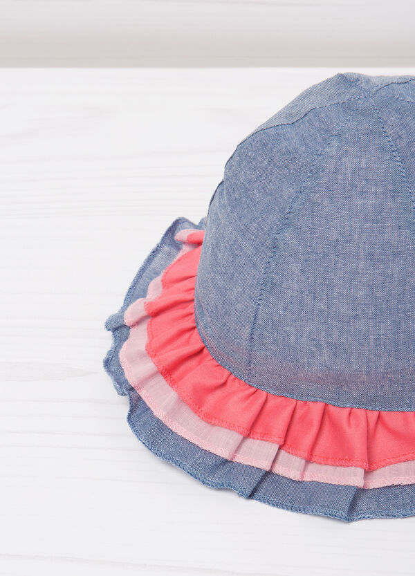 Hat with flounce | OVS