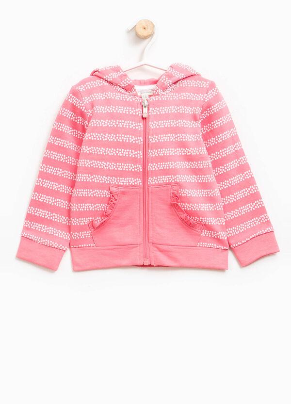 100% cotton sweatshirt with polka dot pattern | OVS