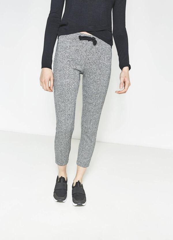 Pantaloni tuta in puro cotone mélange | OVS