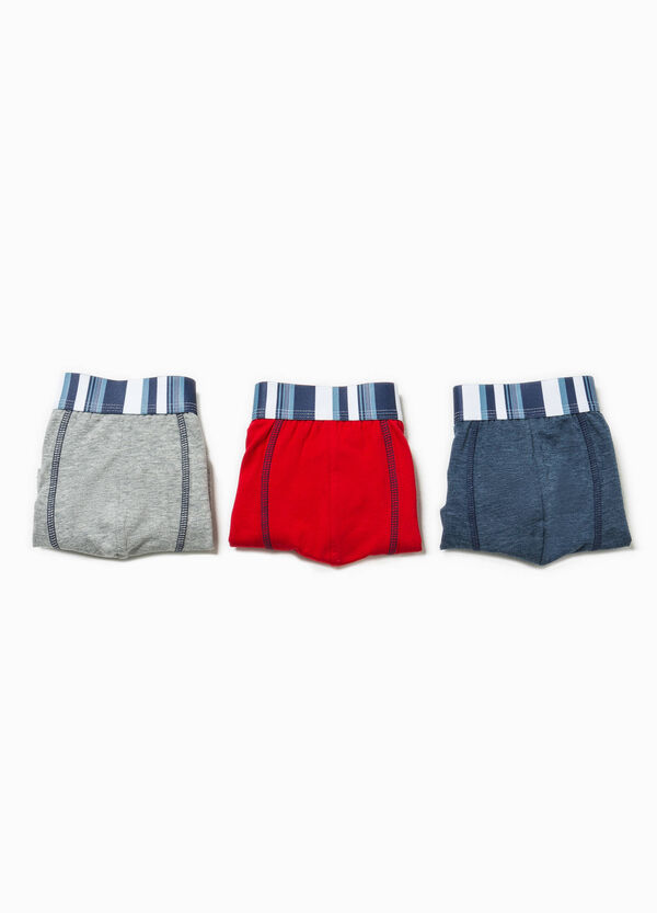Three-pack printed boxer shorts | OVS