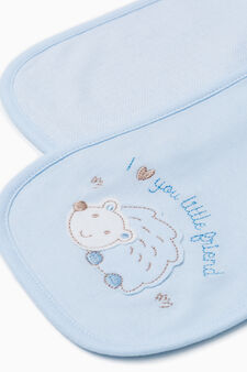 Two-pack towels in 100% cotton, Light Blue, hi-res