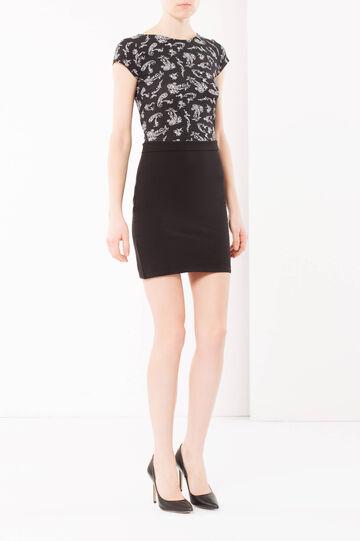 Patterned dress, Black, hi-res