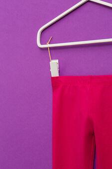 Solid colour stretch leggings, Fuchsia, hi-res