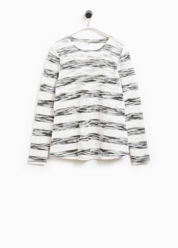 Jersey de rayas en punto tricot Smart Basic | OVS