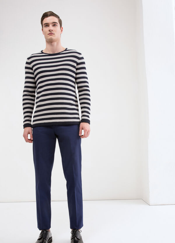 Solid colour stretch trousers | OVS