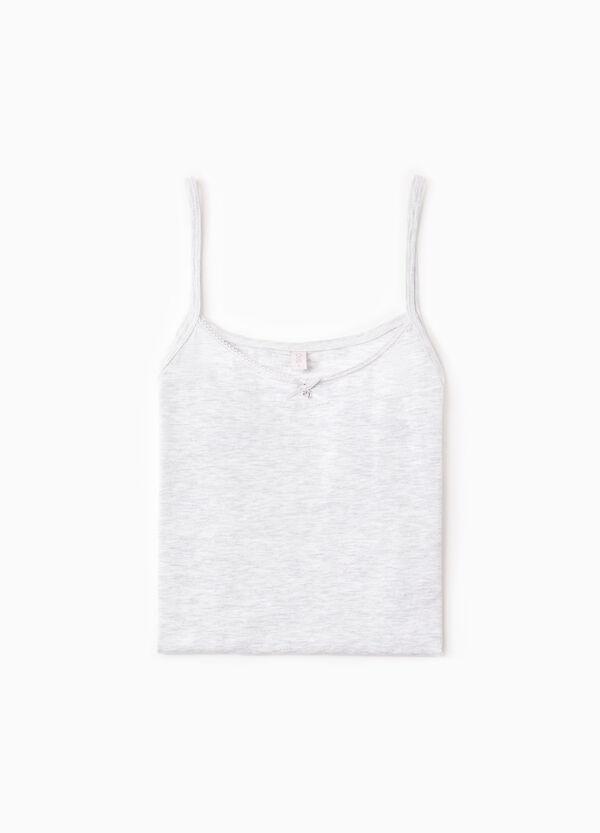 Top interior de algodón elástico de color liso | OVS