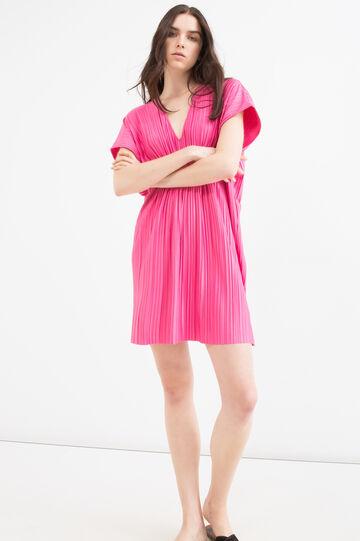 Pleated stretch dress