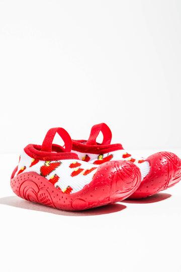Pantofole calzino fantasia, Rosso, hi-res