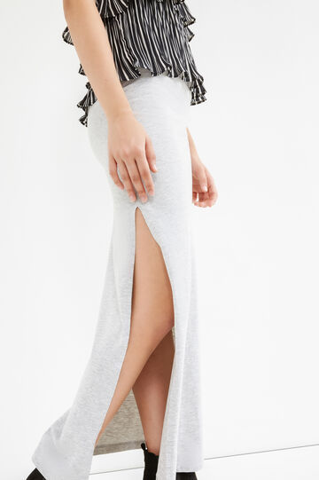 Long skirt with splits, Grey Marl, hi-res