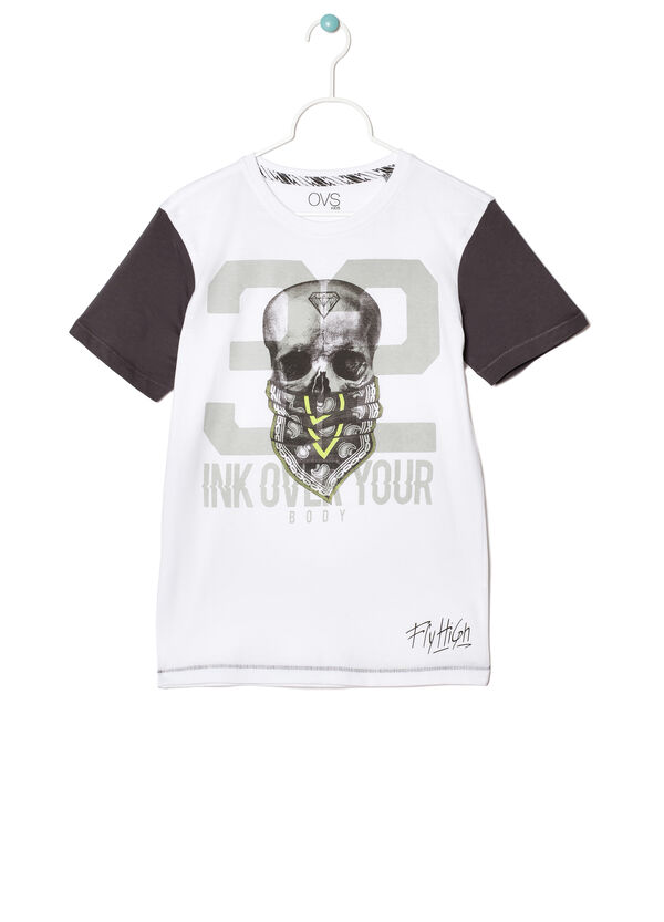 T-shirt with contrasting colour sleeves | OVS