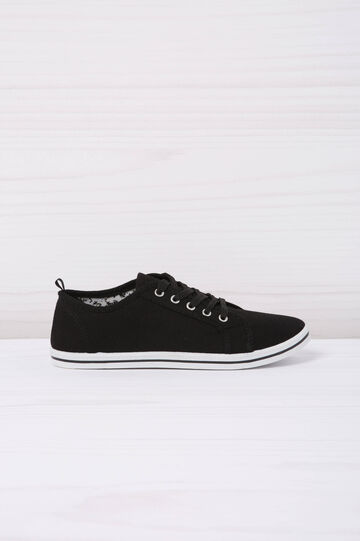 Low sneakers with laces., Black, hi-res