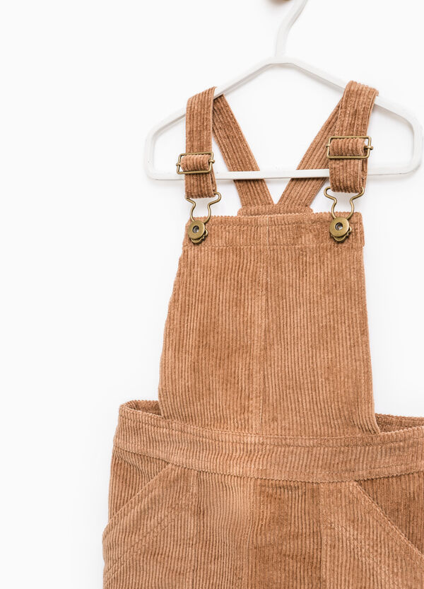 Pinafore dress in cotton corduroy | OVS