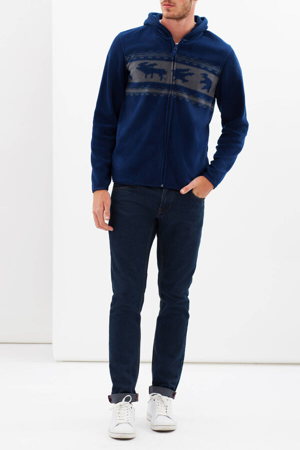 Fleece hoodie with print | OVS