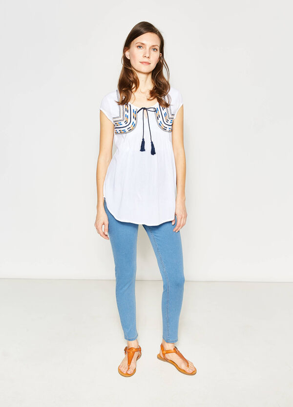 Cotton and viscose MUM blouse | OVS