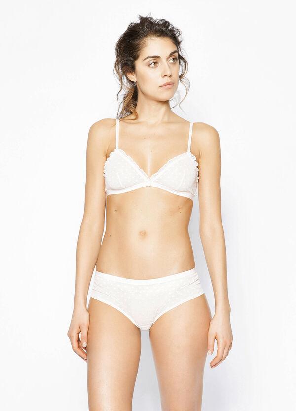 Soft lace triangle bra | OVS