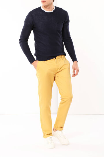 Cotton chinos, Yellow, hi-res