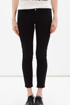 Skinny fit stretch trousers, Black, hi-res