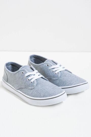 Sneakers con tomaia mélange, Grigio chiaro melange, hi-res