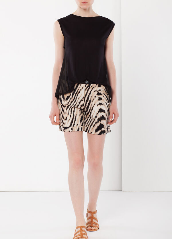 Animal print stretch shorts | OVS