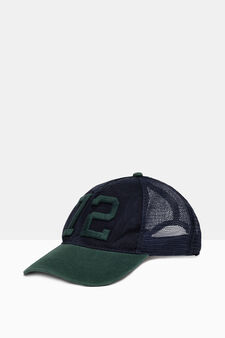 Baseball cap with mesh, Navy Blue, hi-res