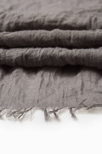 Solid colour viscose blend scarf, Grey, hi-res