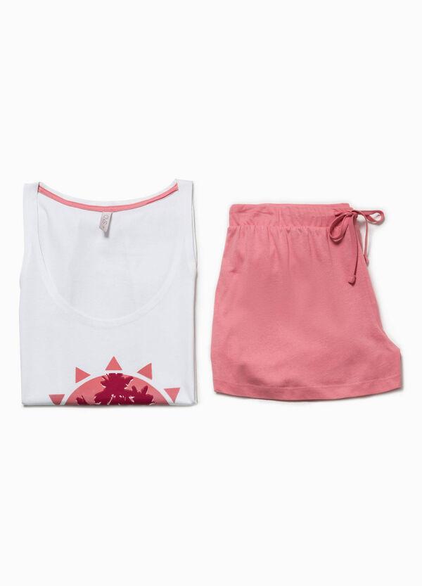 Printed pyjama top and shorts   OVS