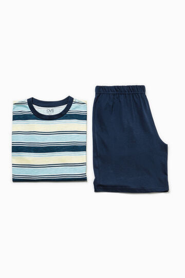 Pyjamas with striped top, Multicolour, hi-res
