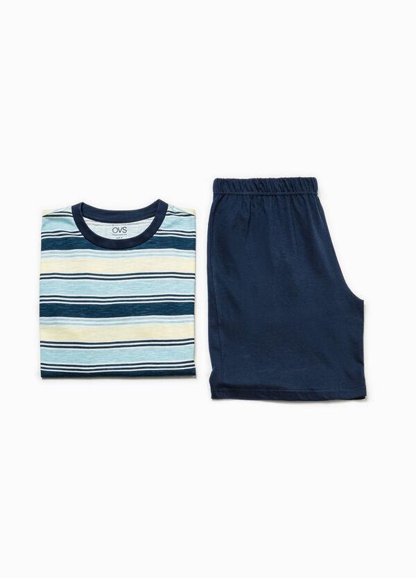 Pijama con camiseta de rayas | OVS