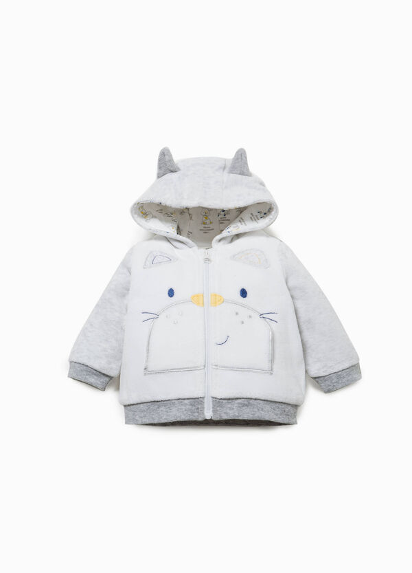 Cotton blend jacket with ears | OVS