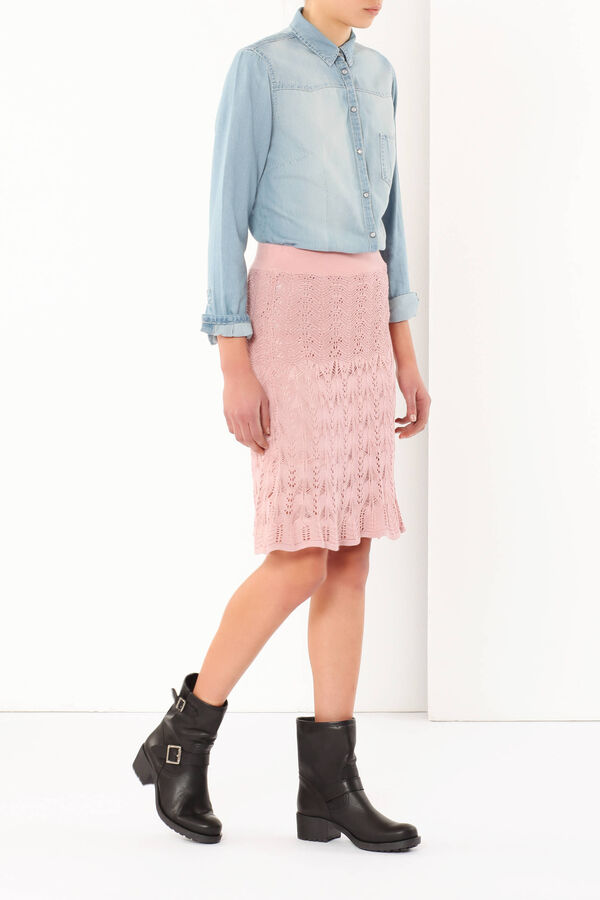 Openwork fabric skirt | OVS