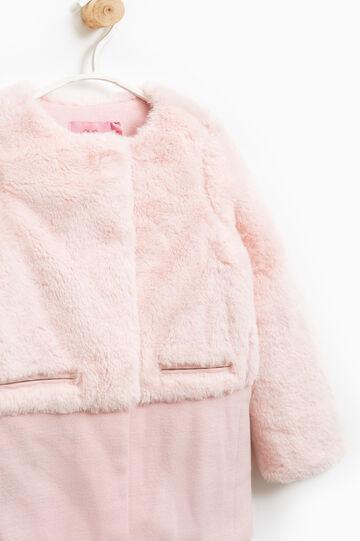 Solid colour faux fur jacket, Pink, hi-res