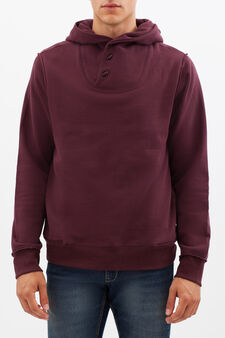 Hoodie with toggles, Claret Red, hi-res