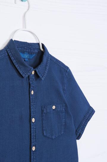Camicia lino cotone tinta unita