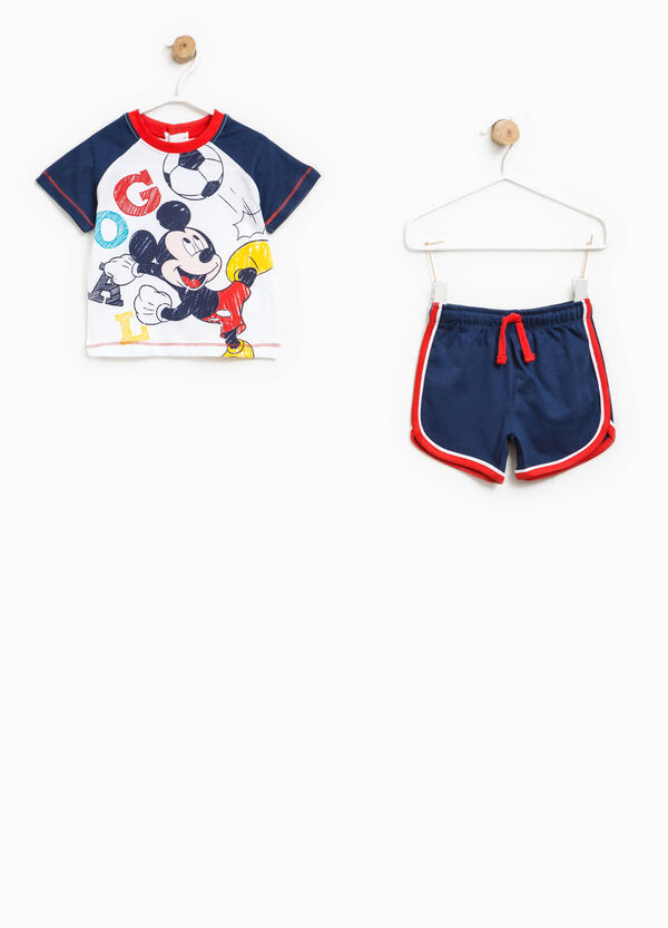 Mickey Mouse T-shirt and Bermuda shorts set | OVS