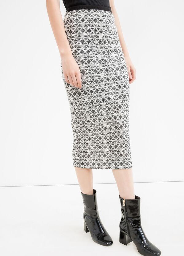 Pencil skirt with geometric pattern | OVS