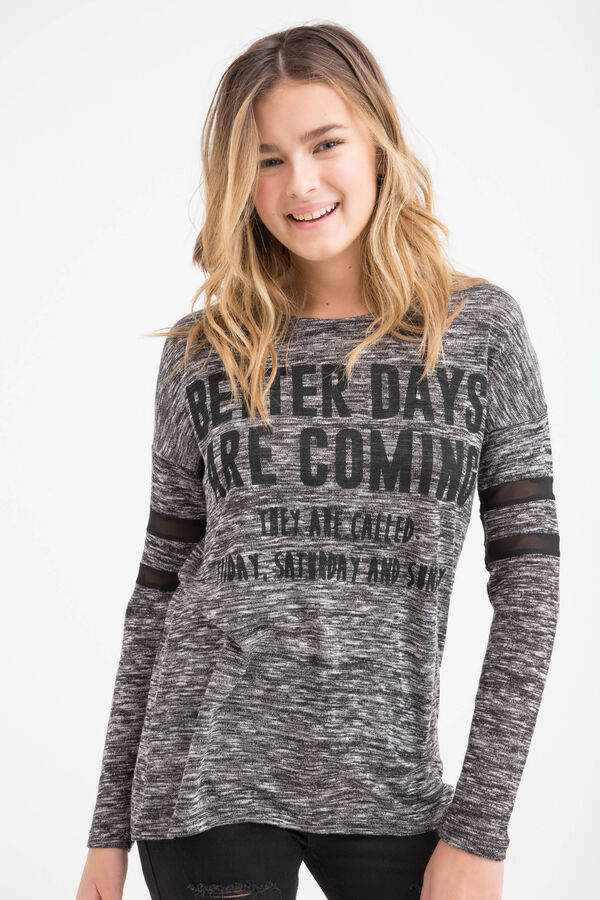 T-shirt misto cotone stampa Teen | OVS