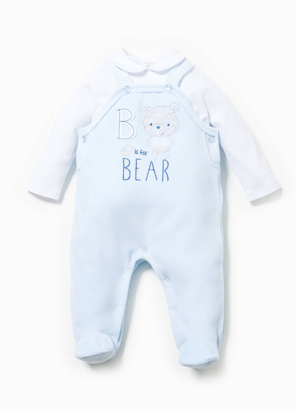 Cotton T-shirt and onesie set | OVS