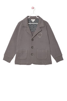Jacket in 100% cotton, Dark Grey, hi-res