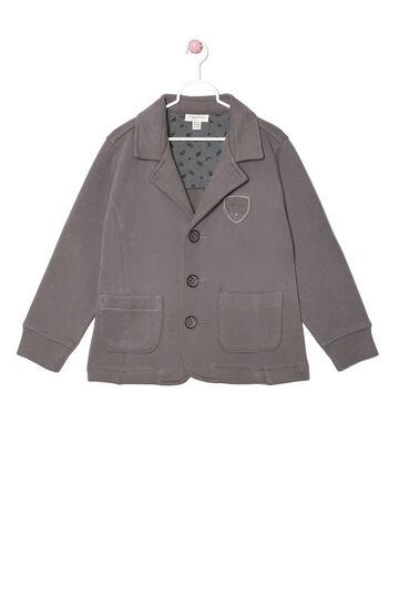 Jacket in 100% cotton, Dark Grey, hi-res