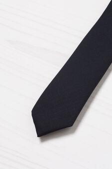 Solid colour tie, Blue, hi-res